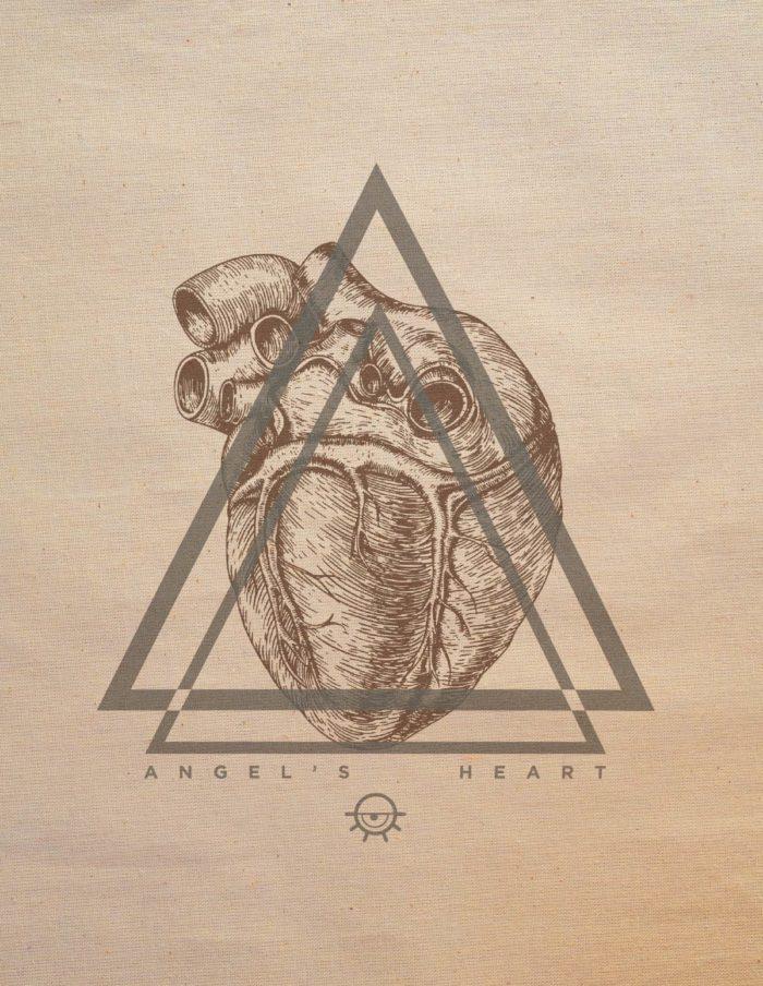 Tote bag- détail angel heart