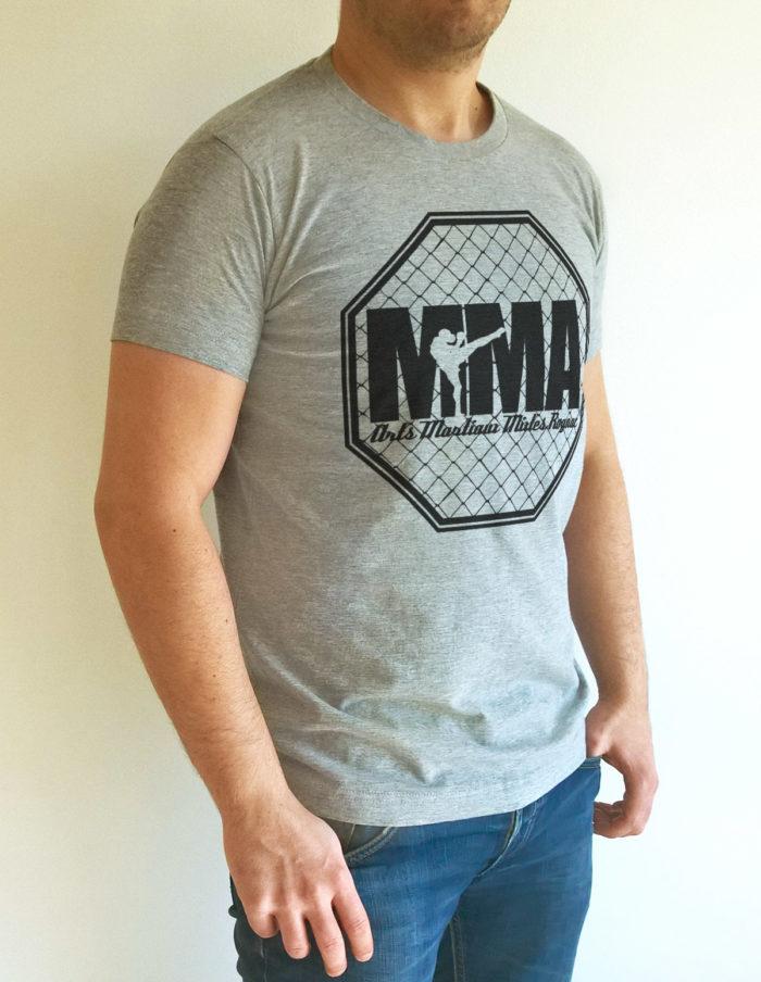 MMA cage face gris chiné 3quart