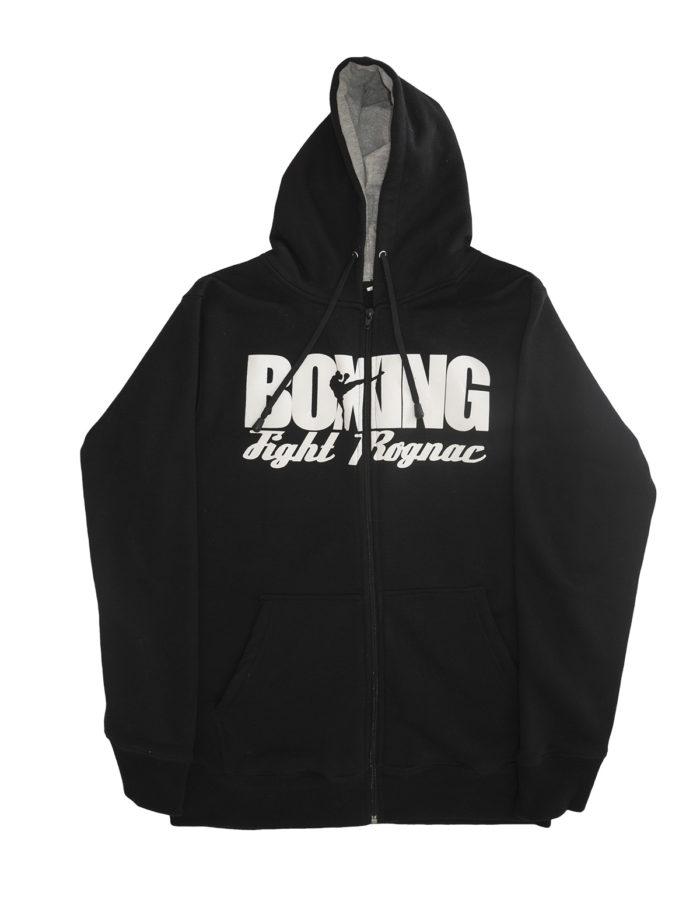 MES veste plat devant boxing 700x904 - Veste noire à capuche - Boxing Fight