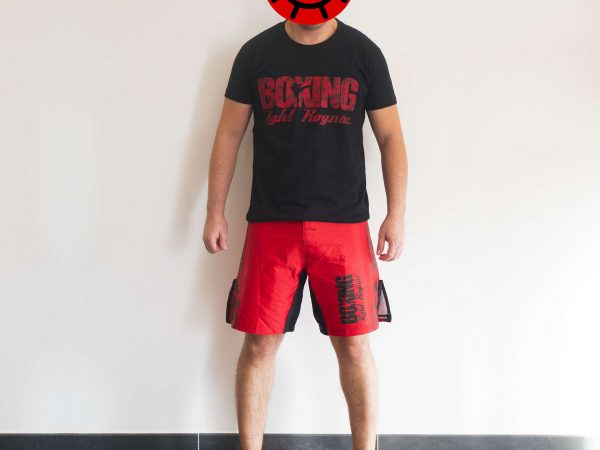 vue de face du design de la tenue Boxing Fight Rognac