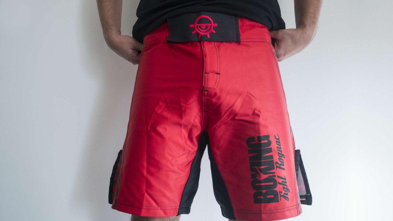Vue de face du design du short du Boxing Fight Rognac