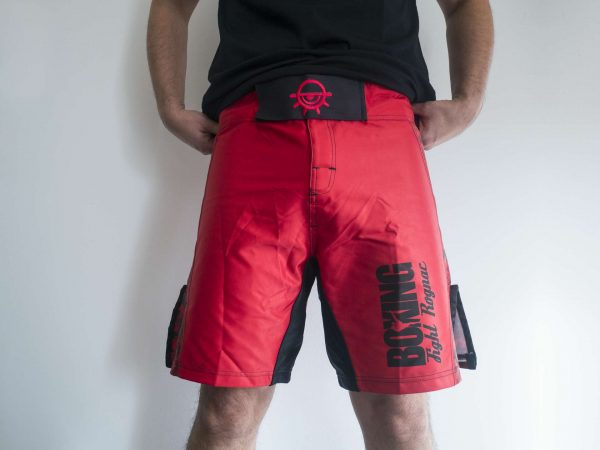 Vue de face du design du short du Boxing Fight Rognac