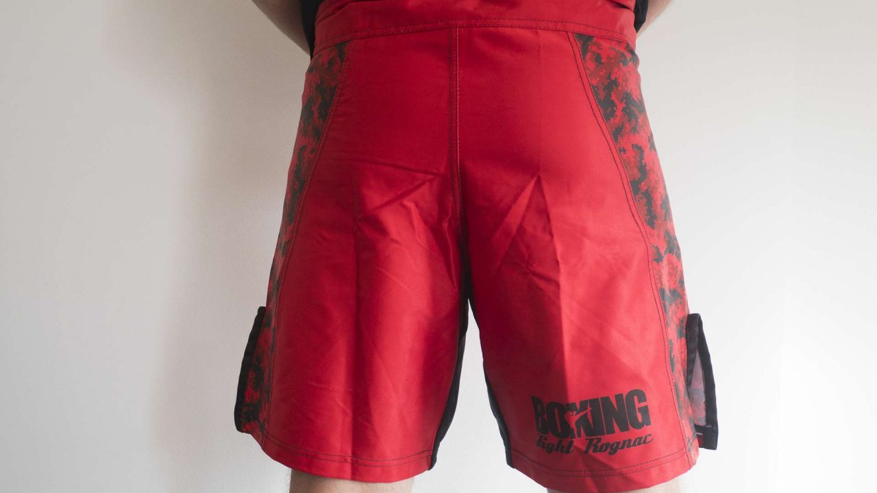 Vue de dos du design du short du Boxing Fight Rognac