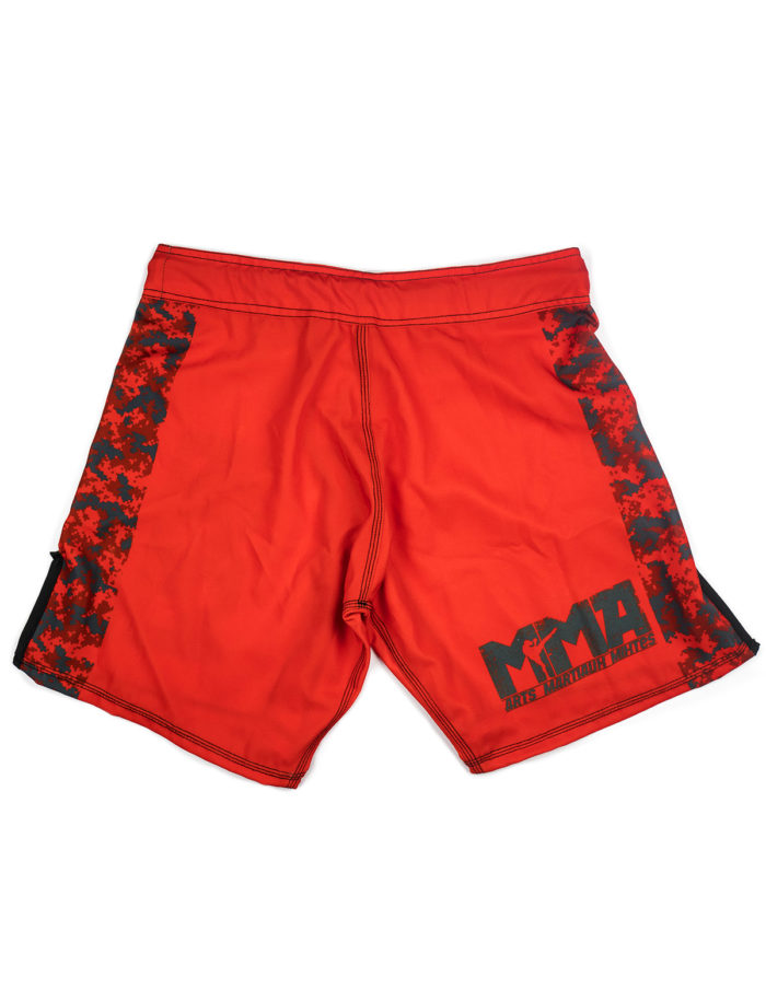 Short MMA rouge Cam vue de dos