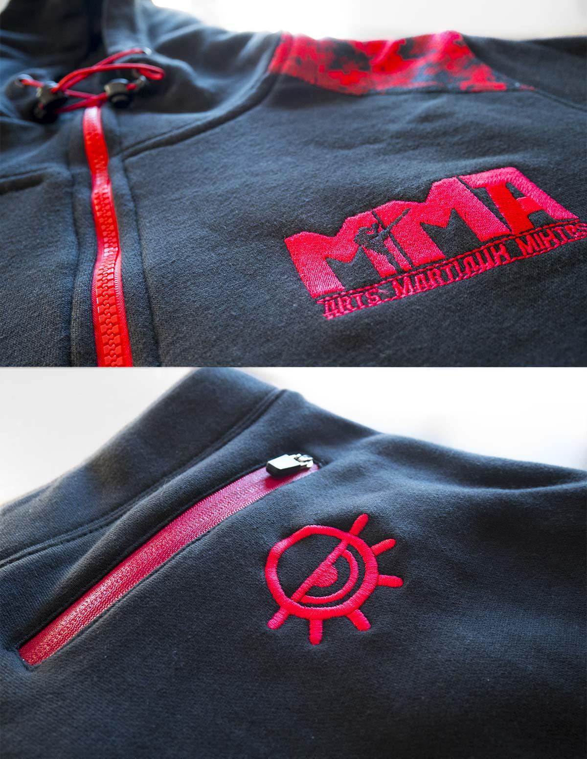 Details-broderies-survetement-MMA-camouflage