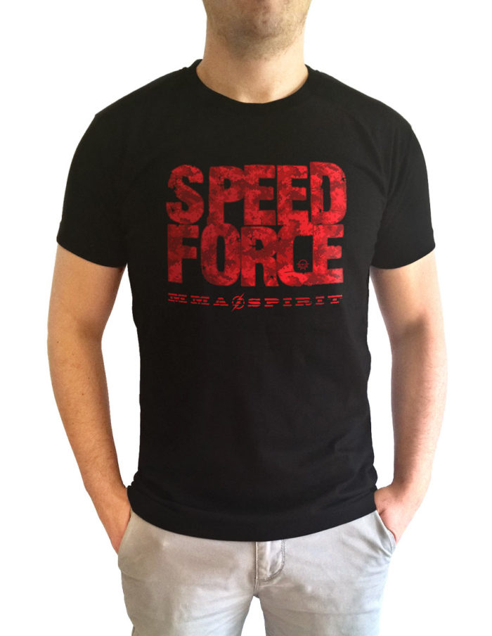 t shirt homme noir-speed force face