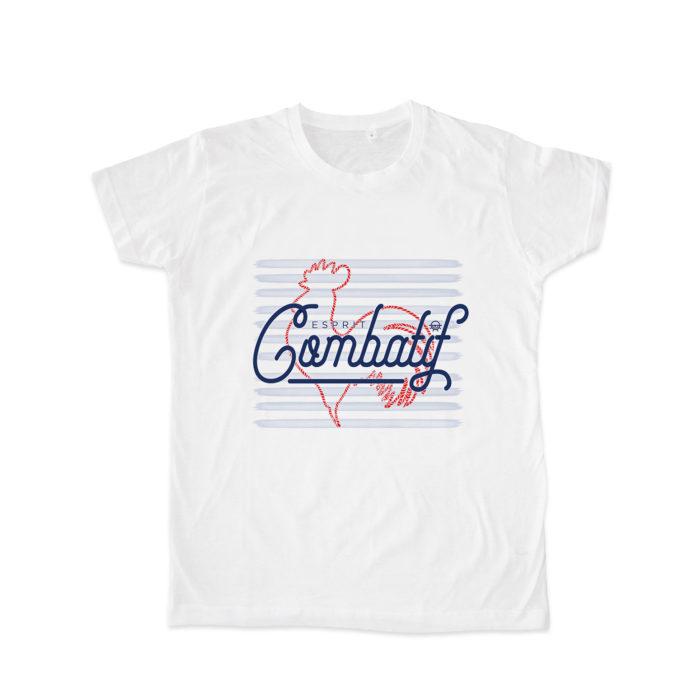 esprit combatif blanc 700x700 - T-shirt blanc Esprit combatif