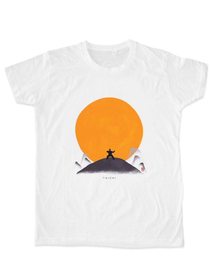 taichi soleil plat blanc e1533055939315 700x904 - T-shirt blanc Taichi