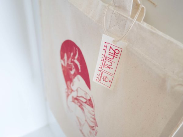 Tote bag, fibre naturelle et bio de la marque 2th-ink