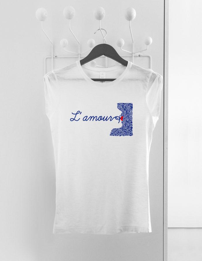 Tshirt blanc manches plissees l amour cintre 700x904 - T shirt femme blanc flammé - L'amour