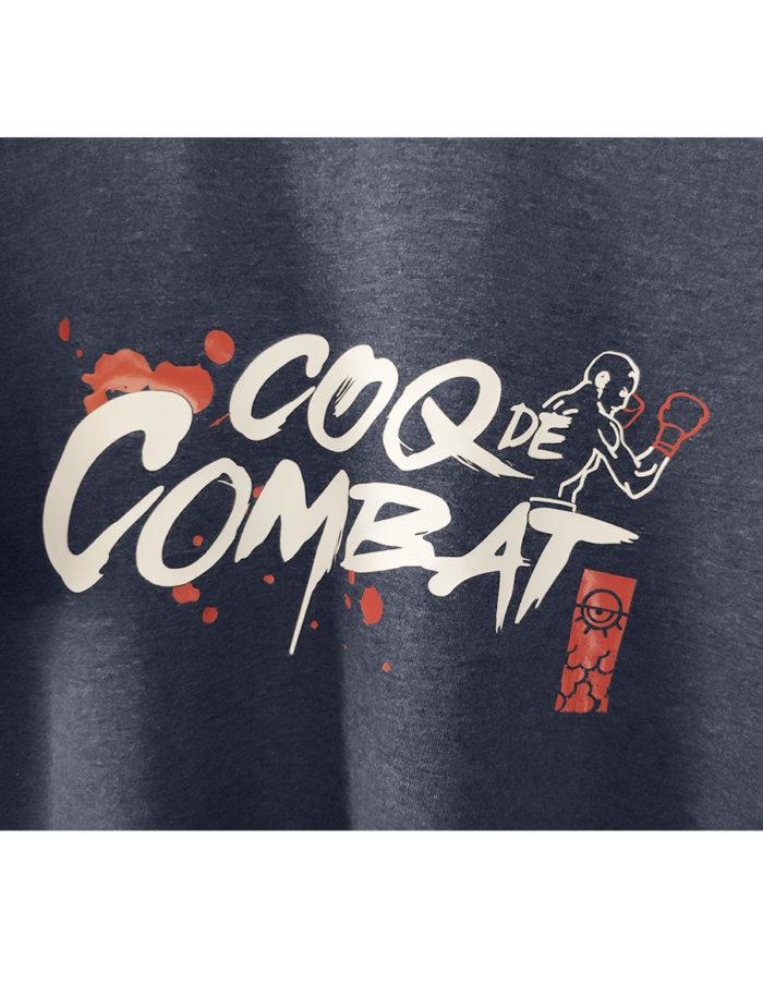 Coq de combat, zoom sur le flex blanc et rouge