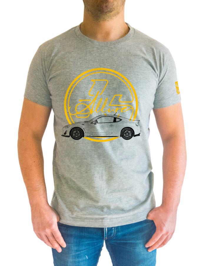 Tshirt 86Allure gris chiné porté de face